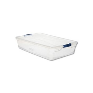 Basic Latch-lid Container 41QT Clear 17.75x29x6.13