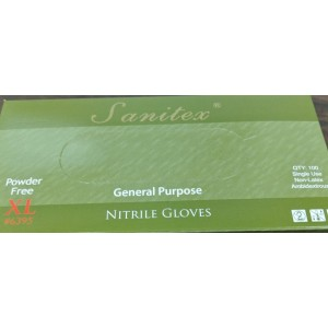 Nitrile General Purpose Gloves, Blue, Powder Free, Industrial Grade, USDA Compliant, 100/BX 10/CS