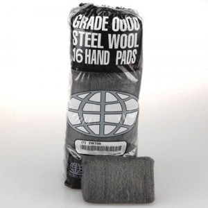 Industrial-Quality Steel Wool Hand Pad, #0 Fine, 16 per Pack