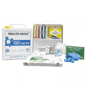 Health Gards First Aid Kit, 50 Person, 290 Pieces, 9 3/4 in x 14 in x 2 3/4 in