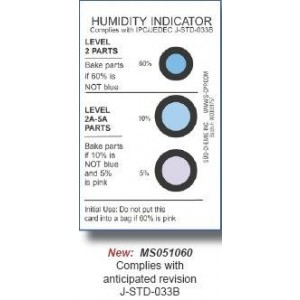 Humidity Indicator 3 Spot 2x3 30/40/50% Meets MS2003-2 125/CN