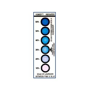 Humidity Indicator 6 Spot 1.56x4.5 200Cards/CRTN