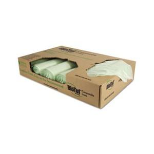 Bag Can Liner 34x48 1M 32Gal Compostable Green 20/BG 5RL/CS