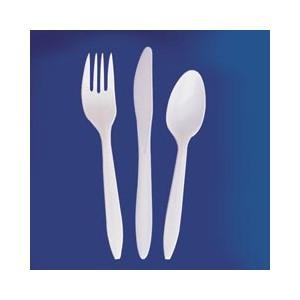 Forks Medium Weight White PP 2.5g 1000/CS