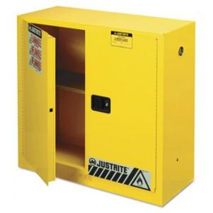 Sure-Grip EX Standard Safety Cabinet, 43w x 18d x 44h, Yellow