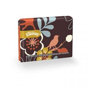 KLEENEX Facial Tissue Wallet Packs, Three-Ply, White