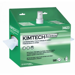KIMTECH SCIENCE Lens Cleaning Station, POP-UP Box, White, 4/Case