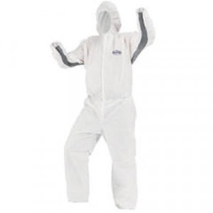 KLEENGUARD A30 Particle Protection Stretch Coveralls, 2X-Large, White