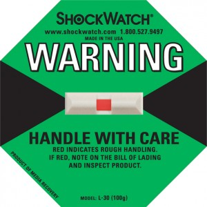 Shockwatch 100G Rating Green Blank No Logo 50/bx
