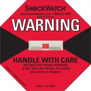 Shockwatch 50G Rating Red Blank No Logo 50/bx