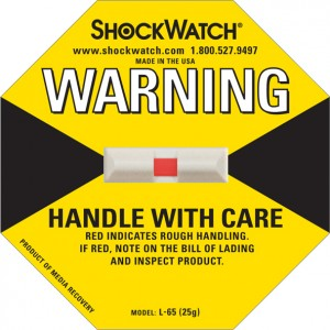 Shock Watch 25G Rating Yellow Blank No Logo 50/bx