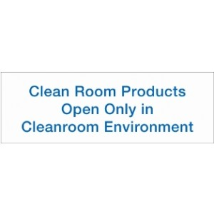 "Label Cleanroom 3x1 ""CR Products Open Only in CR Env"" 1K/RL"