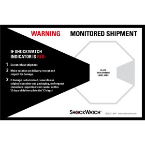 Label 5x8 Companion For Shockwatch 500/RL
