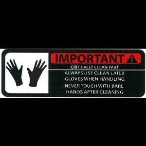 "Label 3x1 ""Important! Critically Clean Part"" LAM 500/RL"