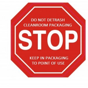 "Label CR 2""x2"" ""Stop Do Not Detrash"" Octagon LAM RED/WHT Perf 1M/RL"