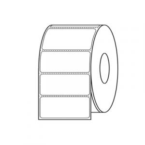 "Label Thermal Transfer DuraScan 4x2.5 3""Core Plastic Matte White 933/RL4/CS"