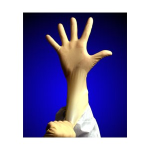 """Glove 9"""" Durashield Latex Cleanroom Large 100/BG 10/CS"""