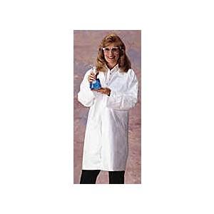 Lab Coat Tyvek Front Snaps No Pockets Elastic Wrist MED 30/CS