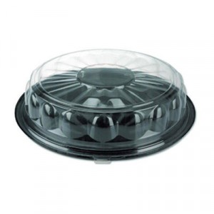Lid Caterware Round Dome 18x2.5 Clear Crystal Cut 50/CS