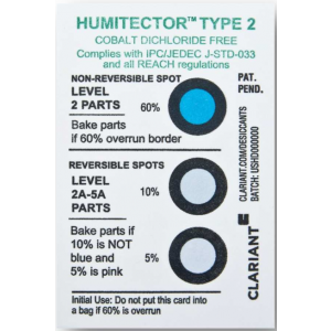 "Humidity Indicator 3 Dot 5/10/60%JEDEC ""Humitector Non-Reversible 125/CAN"