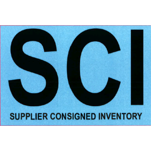 "Label 4x6 ""SCI"" SG Litho Permanent Black on PMS283 250/RL"