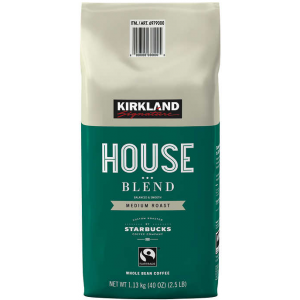 Coffee Kirkland Signature House Blend Whole Bean Medium Roast 2.5/LB/PKG