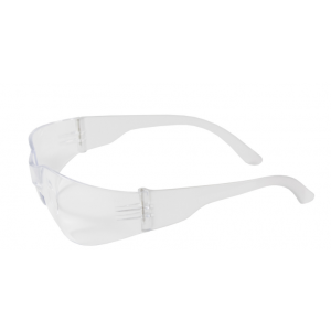 Safety Glasses Rimless Clear Wrap Lens&Temple 12/BX 12/CS