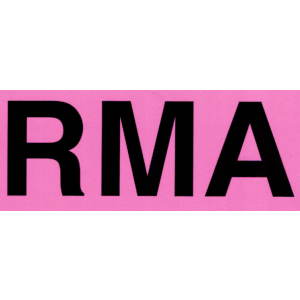 "Label 5x7 Black on Fluorescent Pink ""RMA"" Removable Adhesive 250/RL"
