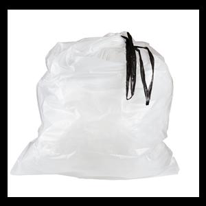 Bag Can Liner 24x28 .70Mil Drawstring White 25/RL 12/CS 300/CS 64/PLT
