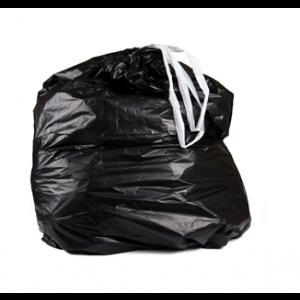Bag Can Liner 28.5x45.5 1.0Mil Drawstring Black 25/RL 6/CS 150/CS 64/PLT