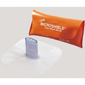 Mask CPR MDI Microshield in pouch 50/CS