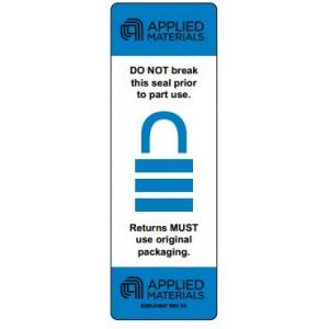 """Label CR 3"""" Core Applied Lock """"DO NOT BREAK"""" Blue Perf 500/Rl"""