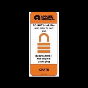"""Label CR 3"""" Core Applied Lock 2.5x6 """"DO NOT BREAK"""" Orange Perf. 500/Rl"""