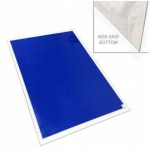 Mat Tacky Tray PVC 20x47 for 18x45 Rigid W/Rubber Non Skidding White