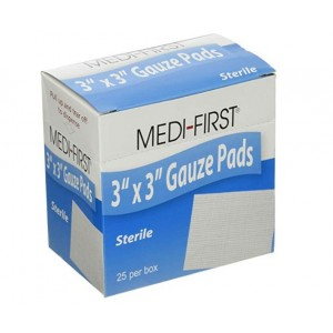 Gauze Pads 3x3 Sterile 25/BX 24/CS