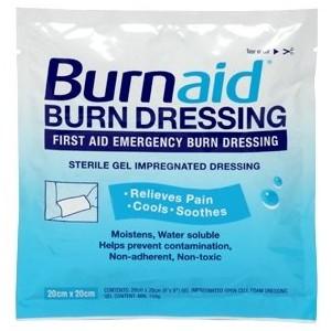 Dressing Burn Burnaid 8x8