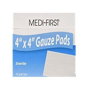 Gauze Pads 4x4 Sterile 10/BX 24/CS