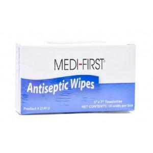 "Antiseptic Towelettes 5""x7"" w/Benzalkonium Chloride 10/BX 10/CS"