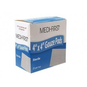 Gauze Pads 4x4 Sterile 25/BX 12/CS