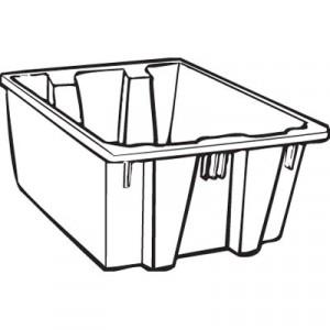 Palletote Box, 19.45gal, Gray