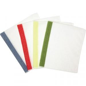 HYGEN Sanitizer Safe Foodservice Microfiber Cloth, 16x19, White/Red