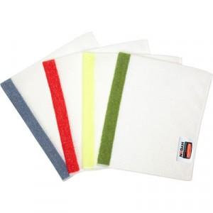 HYGEN Sanitizer Safe Foodservice Microfiber Cloth, 16x19, White/Green