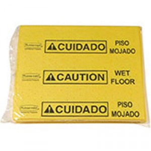 Over-The-Spill Pad Tablet w/25 Pads, Yellow/Black,14x16 1/2