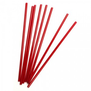 "Stir Sticks 7-1/4"" Plastic Red 1000/BX 10/CS"