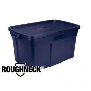 Roughneck Storage Box, 14gal, Dark Indigo Metallic