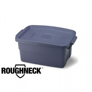 Roughneck Storage Box, 3gal, Steel Gray