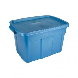 Roughneck Storage Box, 25gal, Dark Indigo Metallic, 19.7w x 28 4/5d x 16 1/2h
