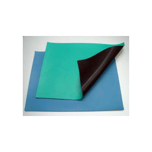 Mat Rubber Table 24x33' Rubber 2-Layer Green Static Dissipative