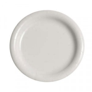 "Plate 9"" White Coated 500/CS  *Was JA-FONMWP942054"
