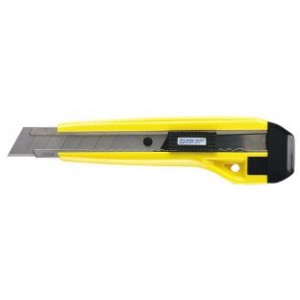 Knife 3-8 Point Snap Blade Locking Heavy Duty YELLOW 25/BX